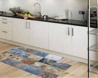 pvc rug | etsy - Pvc Bodenbelag Küche