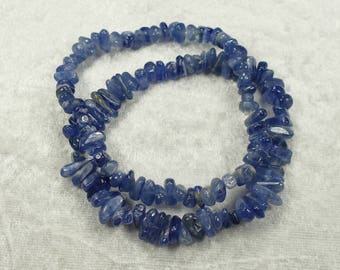 x1 elastic bracelet of natural blue Kyanite Disthene )( semi precious stone bead from Brazil )( jewelry gift (#AC245)