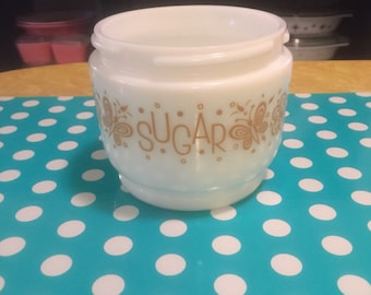 Gemco Butterfly Gold Sugar Dish  'NO LID'