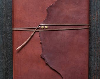 A4 Leather Journal - Kangaroo Leather (Chocolate Brown)