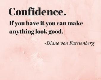 Diane von Furstenberg Quote Print Pink