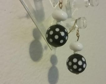 Polka-dot earrings