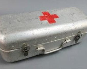 Vintage European First Aid Box - Swiss Red Cross - LARGE