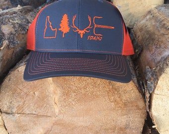 Live Idaho Hat Orange