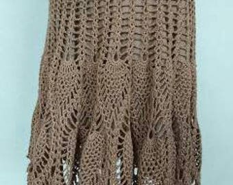 Crocheted skirt, beige.