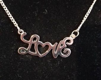Love Heart necklace, love,  heart,  charm,  necklace,  silver
