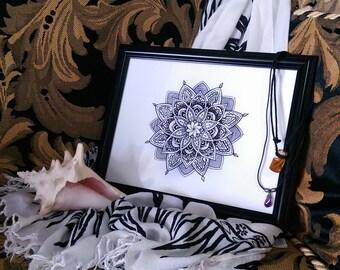 Lotus mandala print