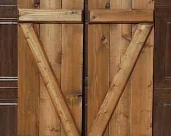 Z-Bar Shutters - Cedar Shutters - Wood Exterior Shutters