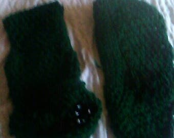 green comfy slippers