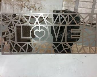 Love Metal Wall Art Hanging
