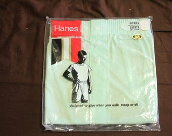 1 pair Vintage Hanes Boxer shorts size 38