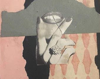 Vintage Collage Print - Eat me