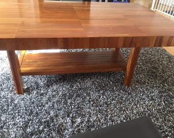 Solid Acacia Wood Butcher Block Dining Table