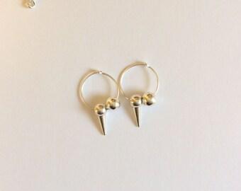 G Dragon Inspired Hoop Spike Earrings 15mm