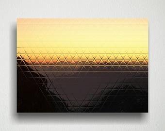 Triangle Desert Sunset Digital Art Download for Print