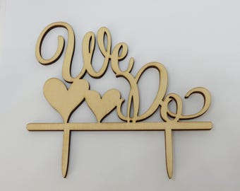 Cake topper wood WE DO