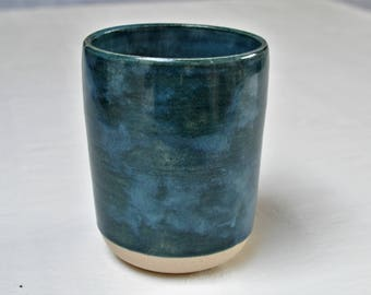 Handmade Turquoise Stoneware Cup