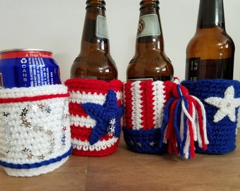 4th of July Can or Bottle Cozy