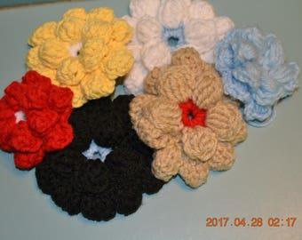 Crochet flowers,flowers for crochet hats,crochet hats,crochet beanie,yarn flowers