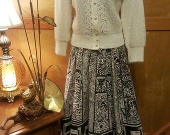 Vintage Artegreen Handpainted Circle Skirt