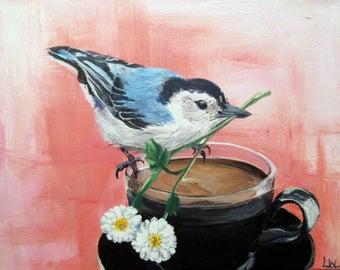 Bird and Tea cup