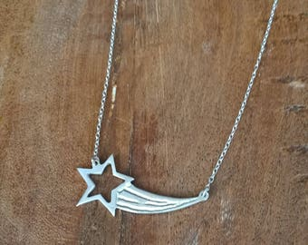 Sterling Silver Shooting Star Necklace