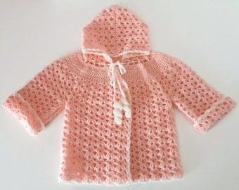 Off-season hooded vest hand-made baby girl
