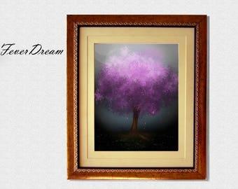 Sakura Spirit Print Digital Wall Art - 11x8.5inch - Unique Modern Artwork