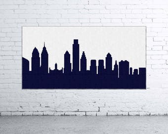 Philadelphia Skyline Canvas Art