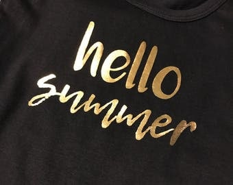 Hello Summer Toddler Shirt