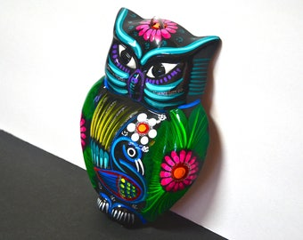 Hand-painted Ceramic Owl