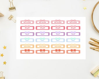 50% OFF SALE College School Labels Stickers, college school labels planner stickers