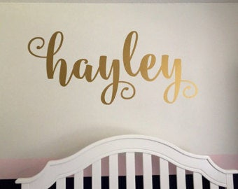 Personalized vinyl wall name decal-multiple fonts available!