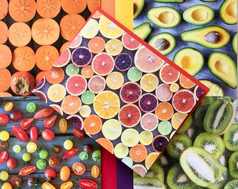 5 fruit greeting cards