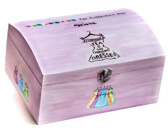 Personalized Wooden Box for Tea Gifts - Hand Painted