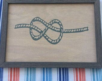 Figure Eight 8 Rope Knot Framed Sign