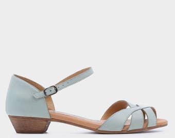 Mint Springs Leather High Heels, Handmade Leather Shoes, Comfortable Leather High Heels, Wedding Shoes