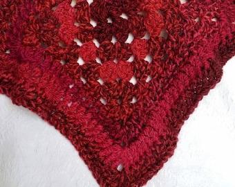 Vintage Handmade Crocheted Afghan Blanket Throw / Vintage Crocheted Tablecloth