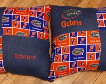Custom NFL Pillow NBA Pillow MLB College Pillows University Pillows Team Pillows Sports Pillows Square and Travel Pillow Personalized custom
