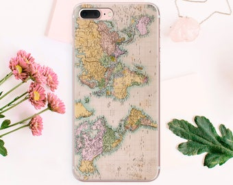World map Travel iPhone case SE phone 5s iPhone case 6 Plus iPhone case phone iPhone case 6s Plus 7 case iPhone phone Transparent CA_022