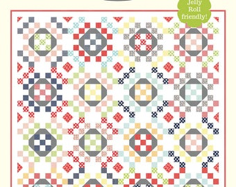 """O Happy Day Quilt Pattern by Bonnie Olaveson of Cotton Way - 999 Finished Quilt Size 76"""" x 76"""""""
