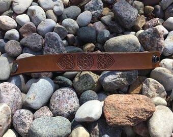 Handcrafted leather bracelet