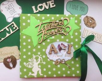 Made-to-order Wedding album, Wedding photo album, Memories album, Gift for fiancée, Anniversary album, Scrapbook album