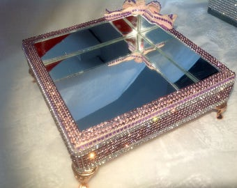 Mirrored tray with metal feet and all worked on the Rhine
