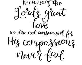 Lamentations 3:22 - Digital Download