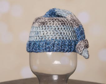 Blue Stripped Sleepy Hat