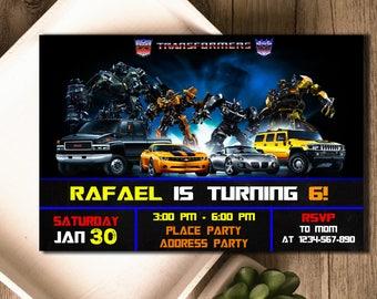 Transformer Invitation / Transformer Birthday / Transformer Invite / Transformer Party / Transformer Birthday Invitation / Transformer