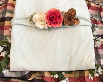 Wrap, Multicolor Layer and Tieback with prefect flowers - Photogrsphy Prop Set