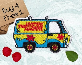 Scooby Doo Patches Mystery Machine Patches Iron On Patch Applique Patches For Jackets