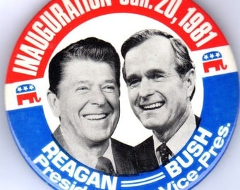 Classic Ronald Reagan 1984 Inauguration Pinback Button